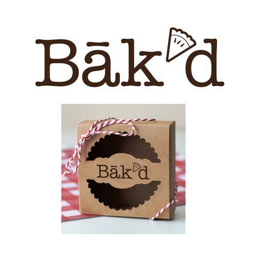winning design: bak'd pie bakery logo