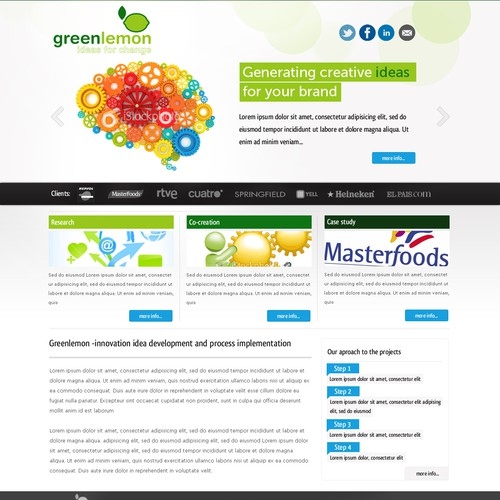 Green Lemon needs a new website design