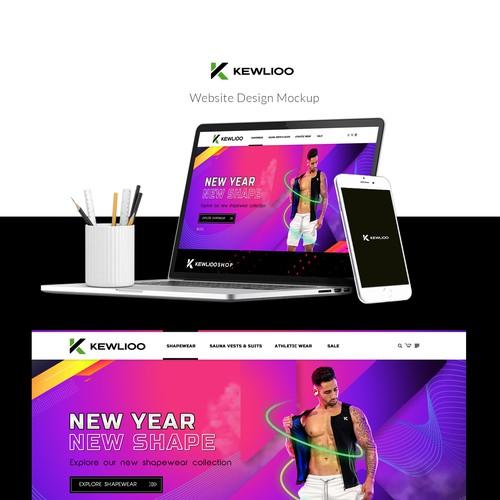 Fitness website homepage design