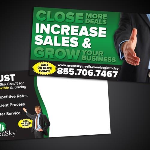 Postcard design for financing company