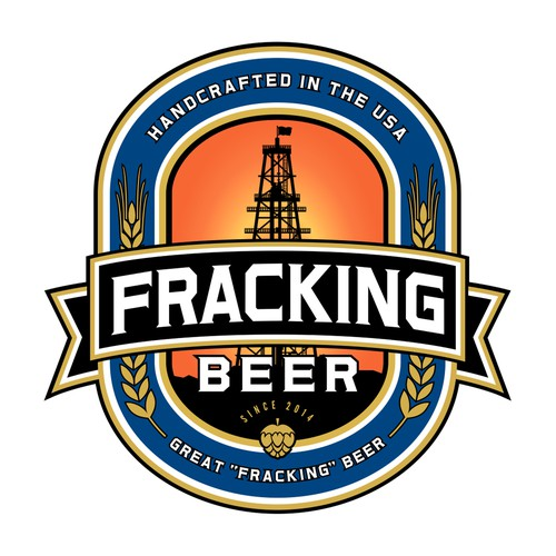 Create an iconic logo for the Fracking Beer brand which will have national exposure.