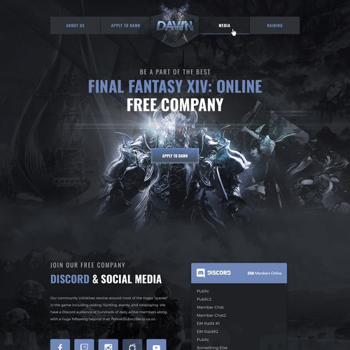 Wordpress Theme design for a popular gaming community