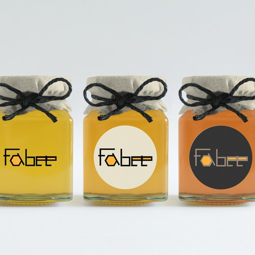 Logo concept for bee and honey products
