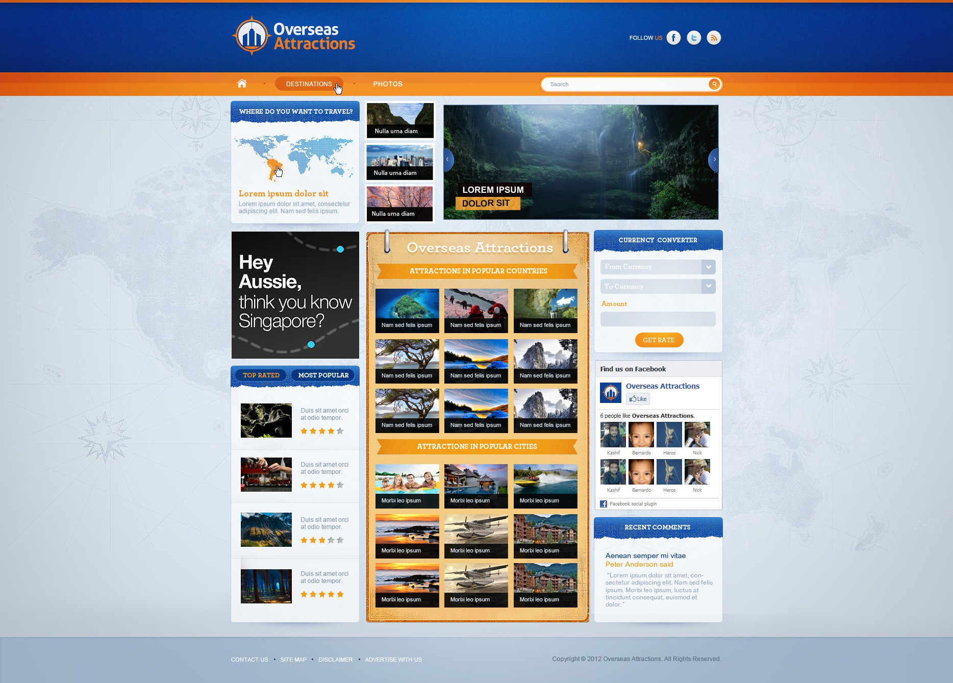 Make Overseas Attractions the best designed website ever!
