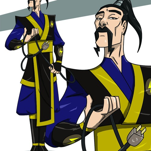 ninja master character design