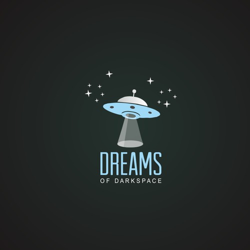 Create logo and banner for creative writing platform Dreams of Darkspace