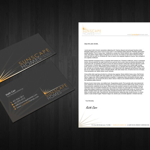 Help Sunscape Homes, Inc with a new stationery