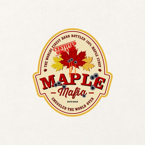A wicked design for a new international Maple Syrup brand.