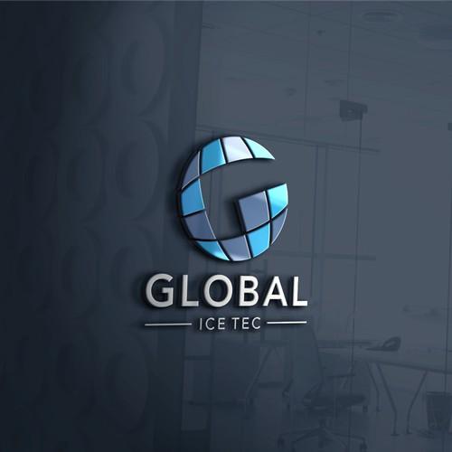 """Simple combie design globe """"G"""" . Herstellung von Kühlschränken mit Eisspeicher, benötigt zum Betrieb keinen Strom. Zielgruppe: Endkunde/Haushalte, die keine permanente Stromzufuhr haben (z. B. in Afrika)."""