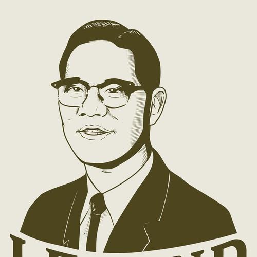 Vintage logo portrait
