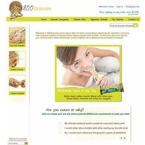 800Granola.com . New website for the #1 healthy snacks website