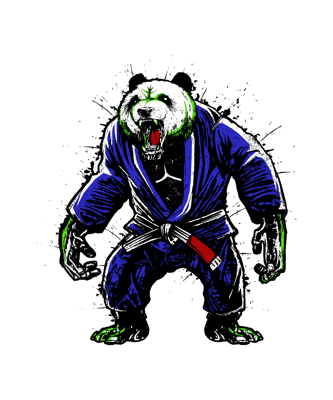 Jiu-Jitsu Inspired Panda / Gorilla Design
