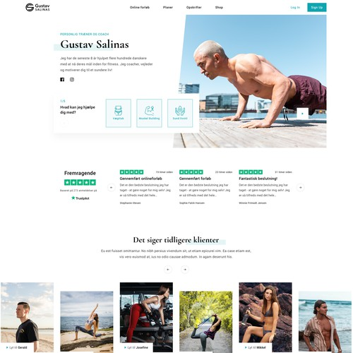 Fitness Coach (Landing Page, UI/UX Design)