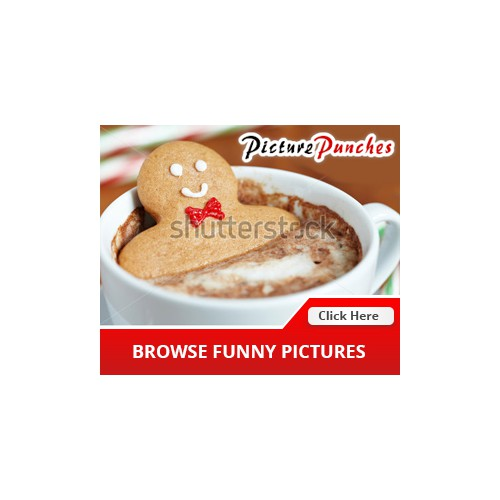 a funny pictures website ad