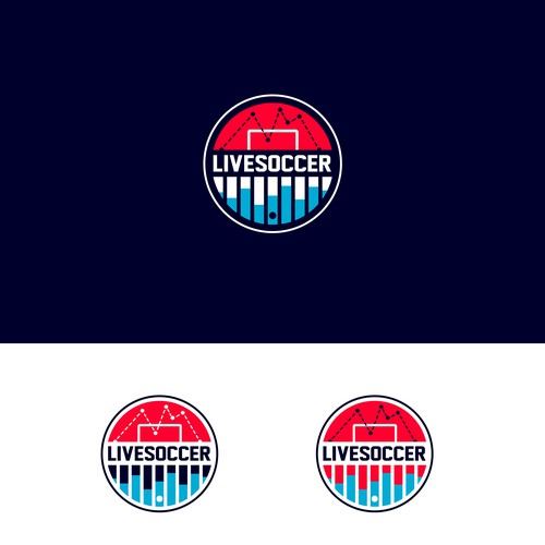 catchy soccer business logo