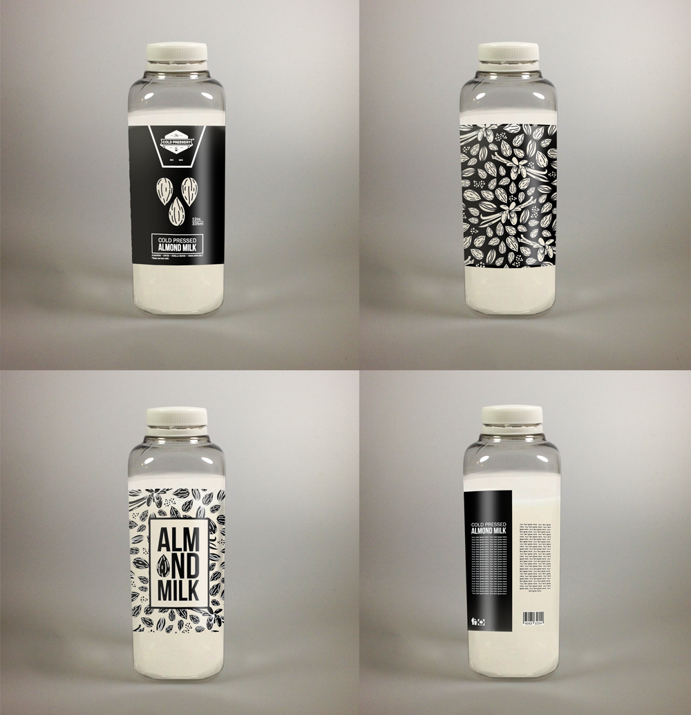 Create an exciting label design for organic juice bottles!