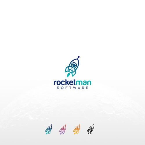 bold logo for rocketman