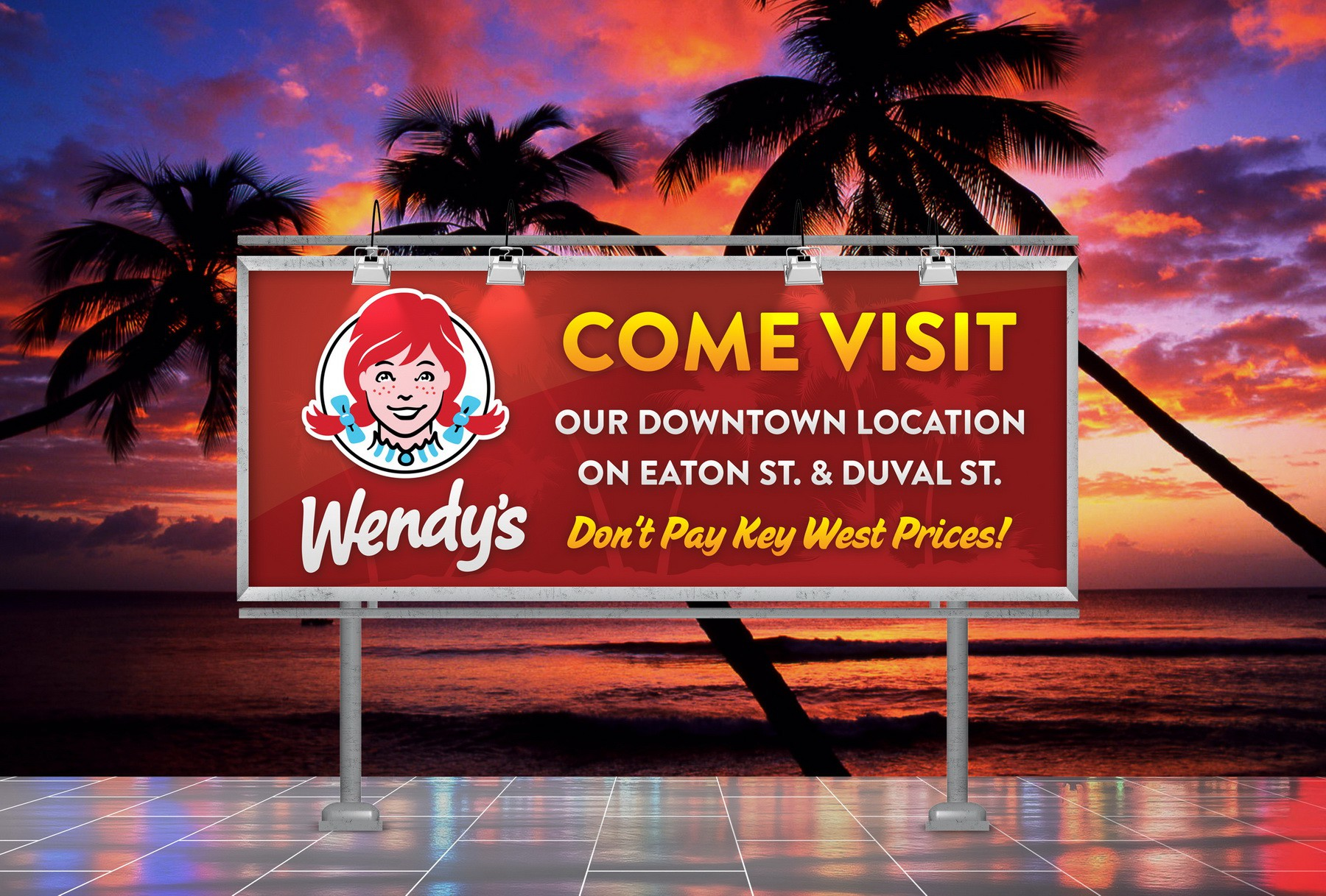 Wendy's Downtown Banner
