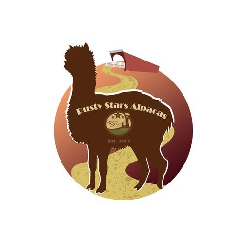 T-Shirt Design for Alpaca Farm