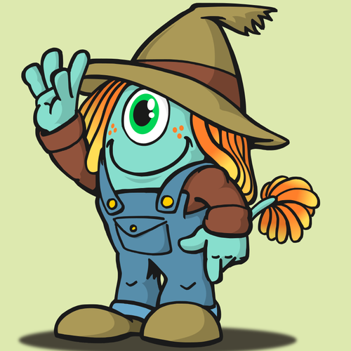 Costume character for farm fair