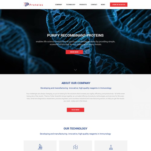 Life science e-commerce site