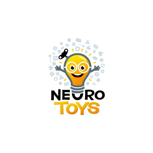 Neuro Toys Logo-It's a toys for brain