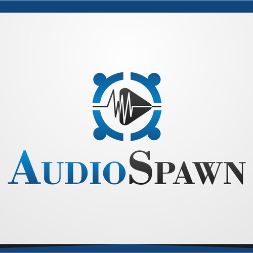 Create an eye grabbing logo to represent the next leading music collaboration network, AudioSpawn