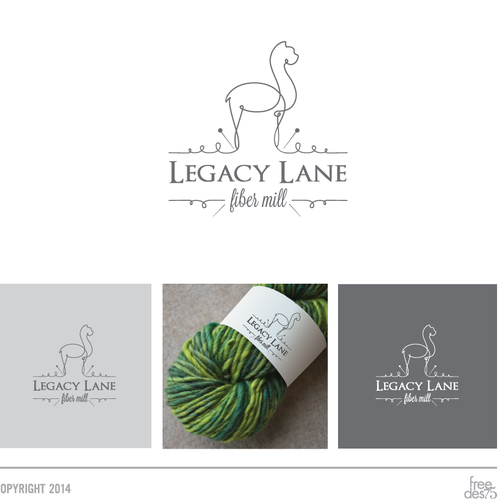 Design a logo that is unique, chic and modern for a fiber mill,weaving studio & yarn shop
