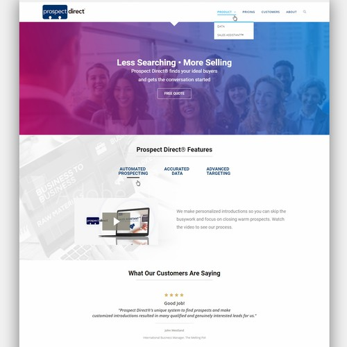 Website design for Prospect Direct