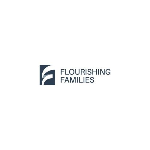 minimal corporate f logo