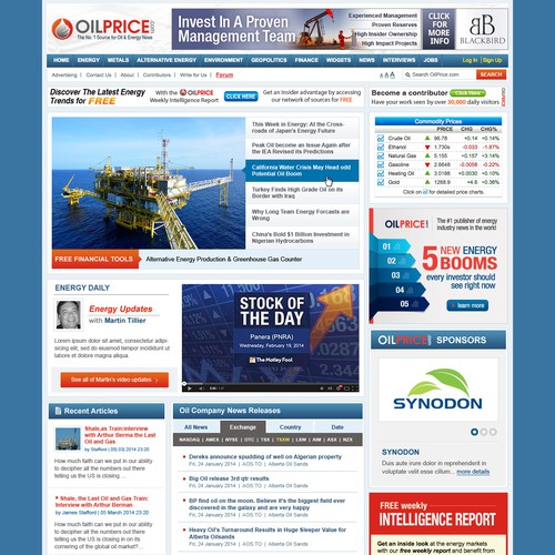 New Homepage Design for Popular News Site
