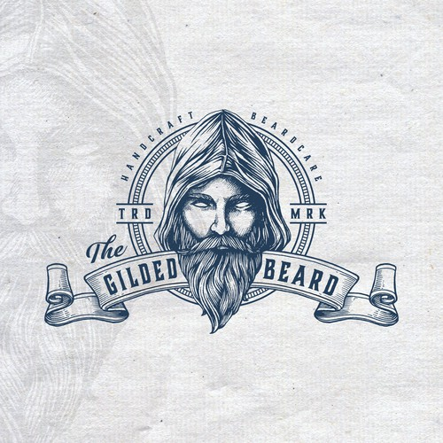 Bold vintage logo for The Gilded Beard
