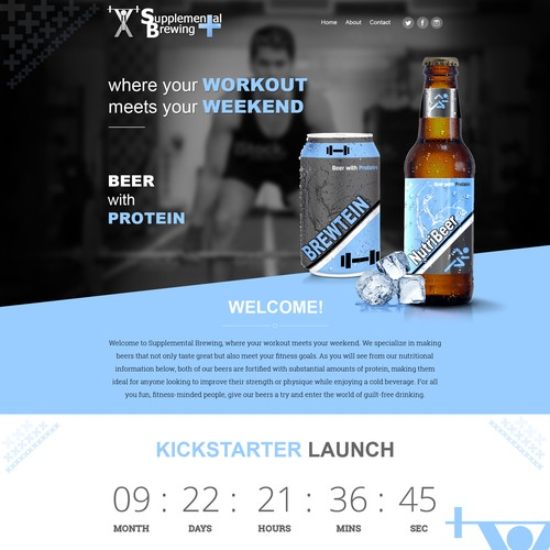High end web design for Beer, health related website