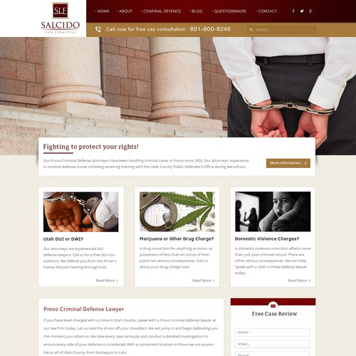 Redesign for Criminal Defense Law Firm