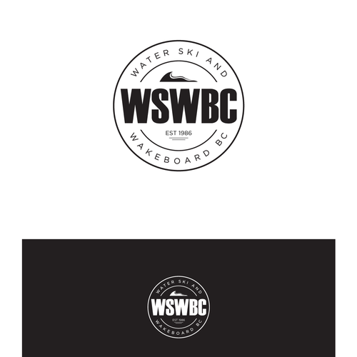 logo for waterski nd wakeboard brand wswbc