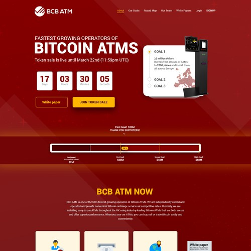 Clean Crypto Currency Landing Page