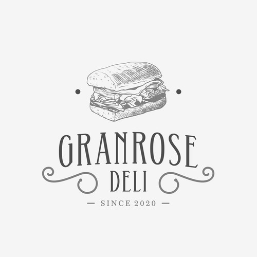 Classic and mature logo concept for GRANROSE DELI