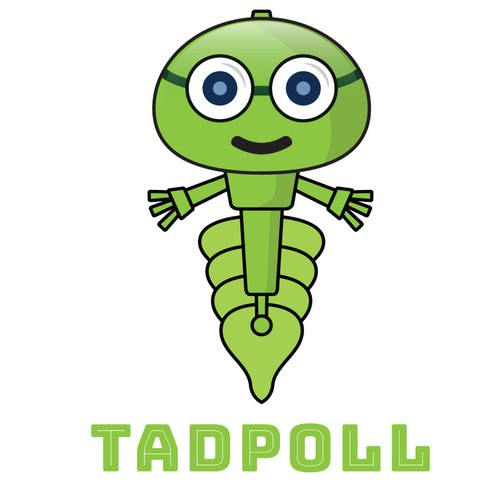 concept design for design a cool tadpole character.