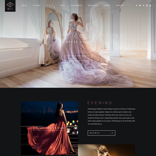 Web Design for a Fashion Designer