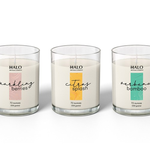 Candle label design