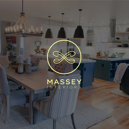 Elegant and minimalist logo concept for interior brand