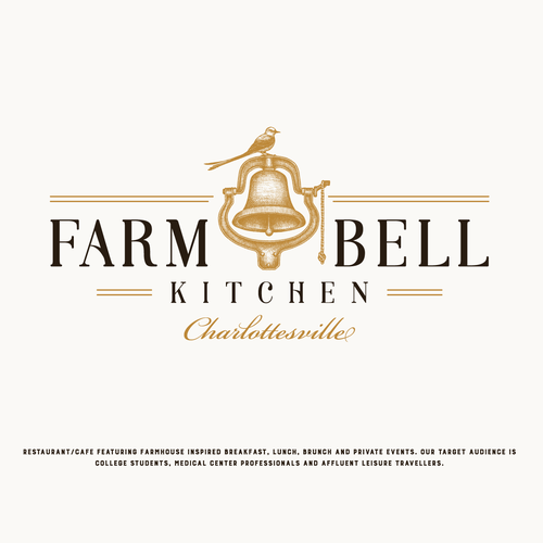 Logo for Farm Bell City Cafe in a 200 Year-Old Building