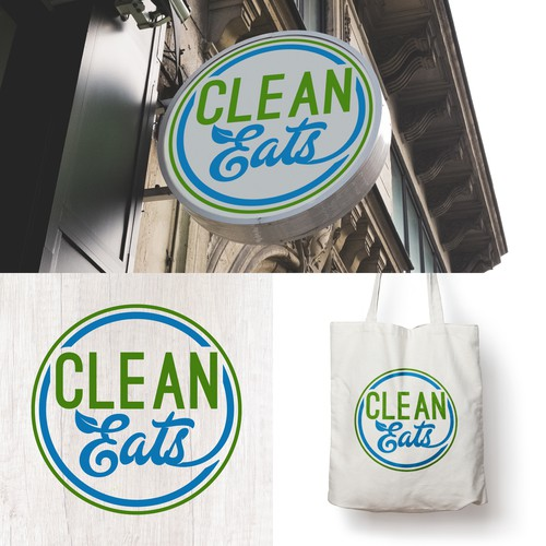 Clean Logo for Clean Eats - Healthy Meal Preparation Company.