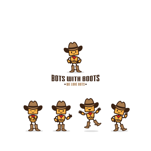 Mascot Bot logo for Bots with Boots