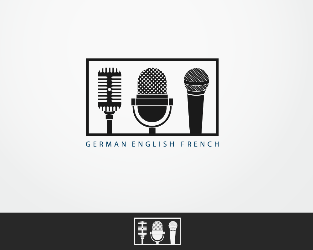 No name.  The logo could be the outline of 3 different types of microphones.  needs a new logo