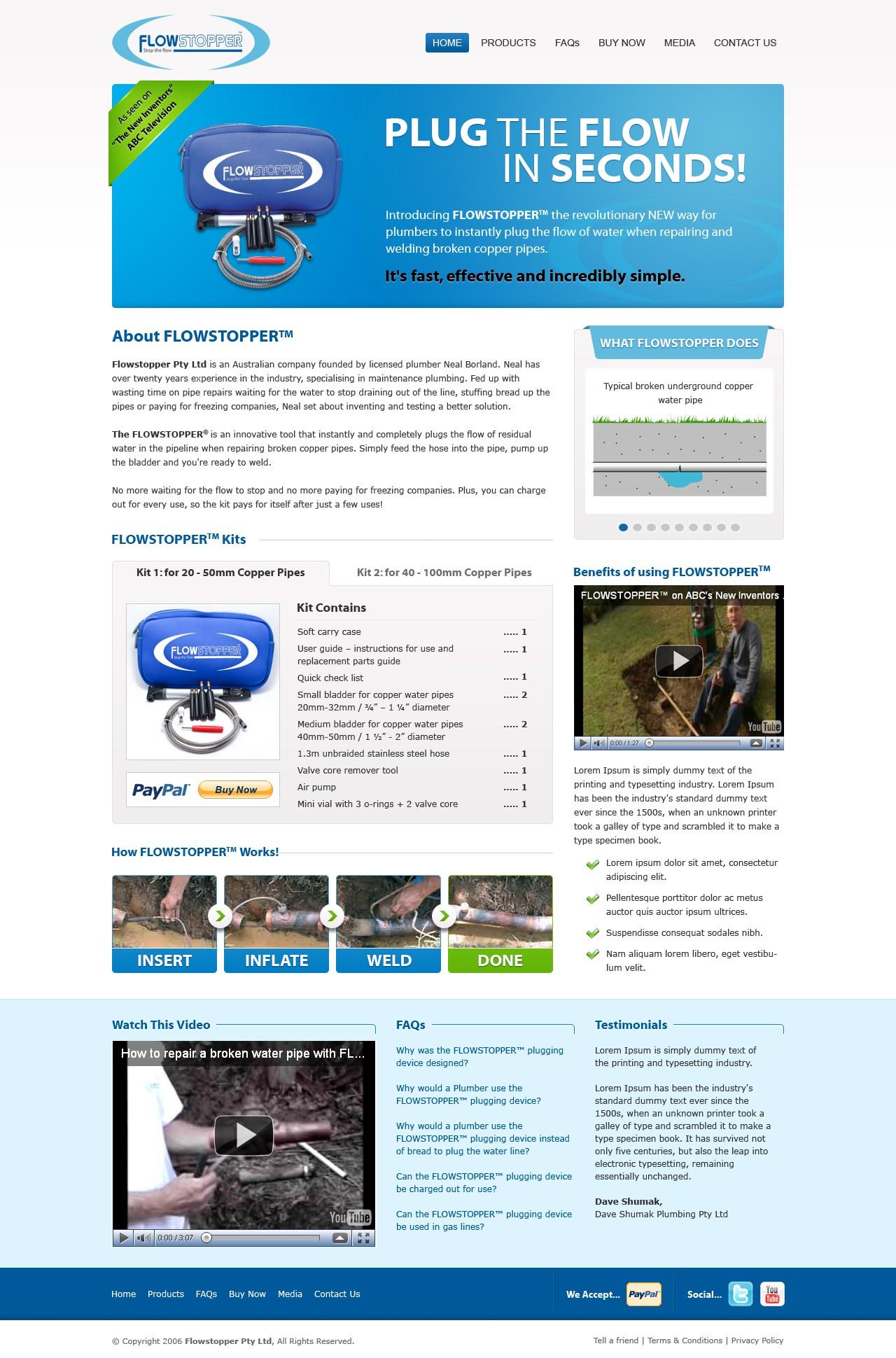 Flowstopper - needs a new website / redesign