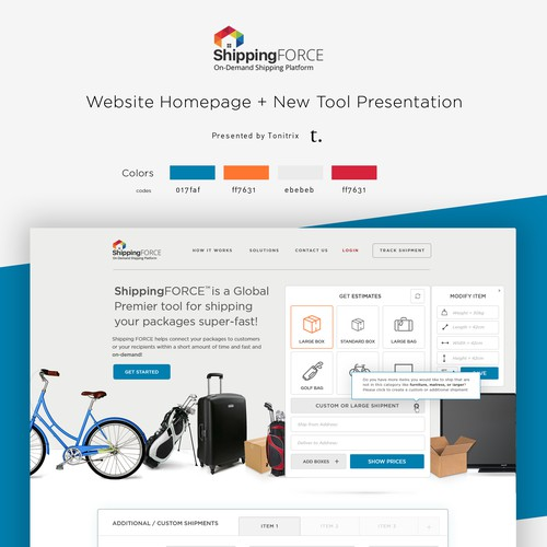 Shipping FORCE Full Homepage + Tools