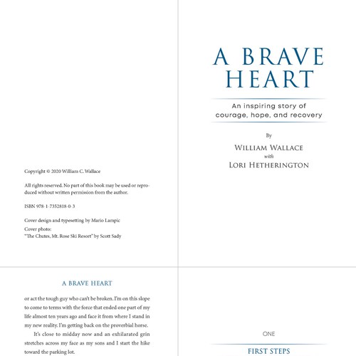 "Typesetting with imagery for the book ""A Brave Heart"" by William Wallace with Lori Heterington"