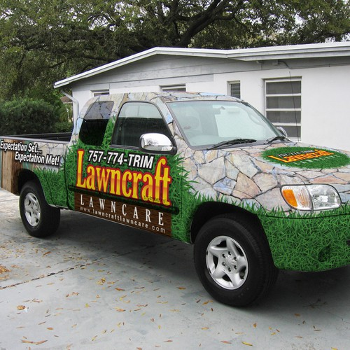truck wrap for lawncraft