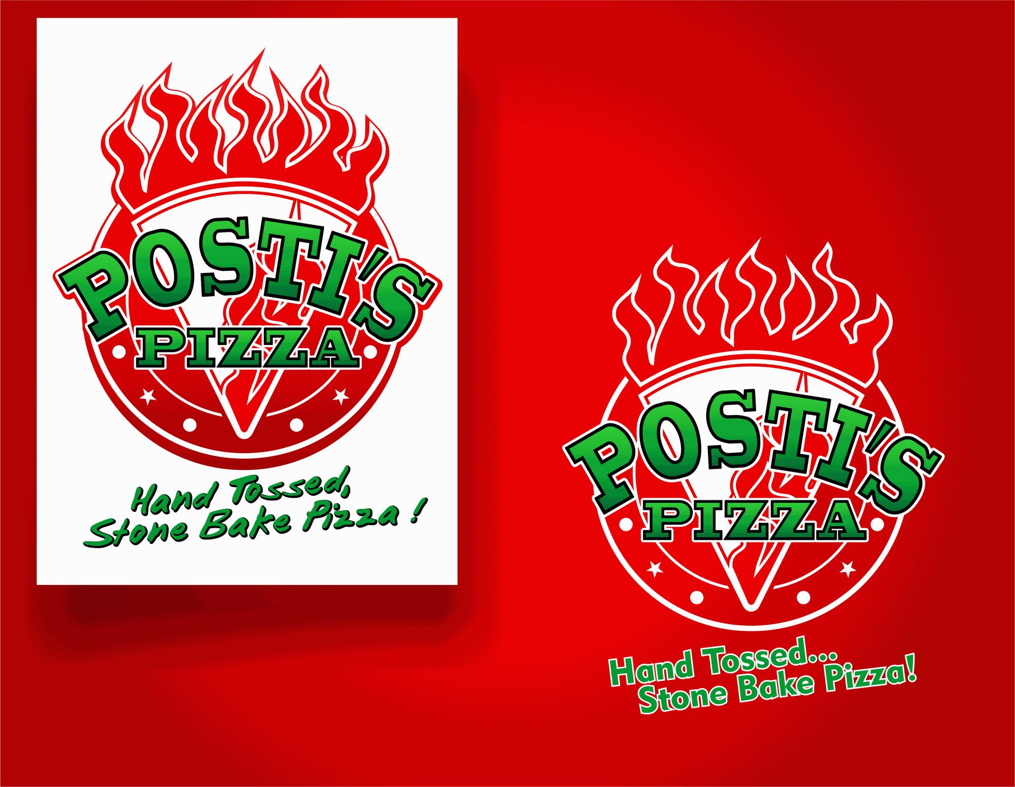 Create a logo for Posti's Pizza